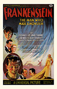 Movie Mixed Media - 1931 Frankenstien Vintage Movie Poster by Presented By American Classic Art