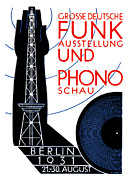 Berlin Germany Painting Posters - 1931 Radio and Music Exhibition Poster by Historic Image