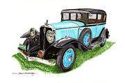 President Of The Usa Painting Prints - 1931 Studebaker President Print by Jack Pumphrey