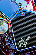 Race Car Photo Prints - 1932 Alfa Romeo 6C 1750 Series V Gran Sport Grille Emblems Print by Jill Reger