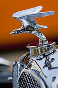 Hoodies Metal Prints - 1932 Alvis Hood Ornament 2 Metal Print by Jill Reger