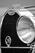 Bugatti Vintage Car Photos - 1932 Bugatti Type 55 Cabriolet Grille Emblems by Jill Reger