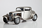 Chrome Prints - 1932 Ford 3 Window Coupe Print by Sanely Great