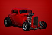 Big 3 Prints - 1932 Ford 3 Window Hot Rod Print by Tim McCullough