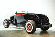 Car Posters Posters - 1932 Ford Deuce Roadster Poster by Sanely Great