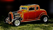 White Walls Framed Prints - 1932 Ford Fenderless Coupe Framed Print by Steve McKinzie