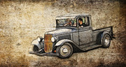 Ford Lowrider Prints - 1932 Ford Pickup Art Print by Steve McKinzie
