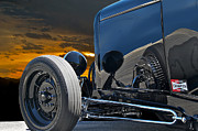 Street Rods Posters - 1932 Ford Roadster Reflections Poster by Dave Koontz