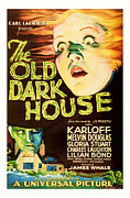 Featured Mixed Media Prints - 1932 the Old Dark House Vintage Movie Art Print by Presented By American Classic Art