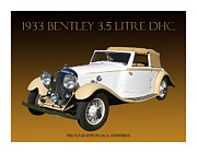 5 Litre Posters - 1933 Bentley Derby D H C  Poster by Jack Pumphrey