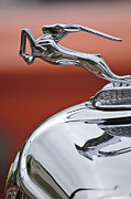 Collector Hood Ornament Metal Prints - 1933 Chrysler CL Imperial Hood Ornament Metal Print by Jill Reger