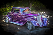 Purple Hot Rod Posters - 1933 Dodge Coupe Poster by Rich Franco