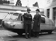 Dymaxion Prints - 1933 Dymaxion Car Print by Underwood Archives