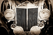 Grille Framed Prints - 1933 Packard 12 Convertible Coupe Classic Car Framed Print by Jill Reger