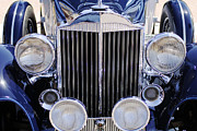 Old Car Prints - 1933 Packard 12 Convertible Coupe Grille Print by Jill Reger