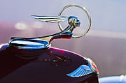 Car Abstract Posters - 1933 Pontiac Hood Ornament Poster by Jill Reger