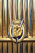 Collector Hood Ornament Metal Prints - 1933 Stutz DV-32 Five Passenger Sedan Emblem Metal Print by Jill Reger
