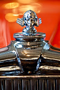 Beach Photograph Prints - 1933 Stutz DV-32 Five Passenger Sedan Hood Ornament Print by Jill Reger