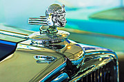 Vintage Hood Ornament Metal Prints - 1933 Stutz DV-32 Hood Ornament Metal Print by Jill Reger
