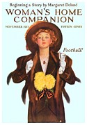 Home Football Game Posters - 1933 - Womens Home Companion Magazine Cover - Color Poster by John Madison