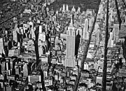 1934 Aerial View Of Manhattan Print by Underwood Archives