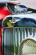 Beach Photographs Prints - 1934 Aston Martin Mark II Short Chassis 2-4 Seater Grille Emblem Print by Jill Reger