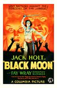 Featured Mixed Media Prints - 1934 BLack Moon Vintage Movie Art Print by Presented By American Classic Art