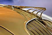 Collector Hood Ornament Posters - 1934 DeSoto Airflow Coupe Hood Ornament Poster by Jill Reger