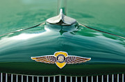 Vintage Hood Ornament Metal Prints - 1934 Dodge Hood Ornament Emblem Metal Print by Jill Reger