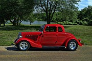 Street Rod Photos - 1934 Ford 5 Window Hot Rod by Tim McCullough