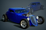 Custom Ford Metal Prints - 1934 Ford Custom Hot Rod Metal Print by Tim McCullough