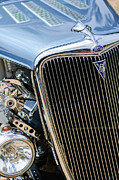Hot Rod Photography Framed Prints - 1934 Ford Deluxe Hot Rod Grille Emblem Framed Print by Jill Reger