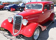 Greyhound Photos - 1934 Ford Greyhound Two Door Sedan by John Telfer