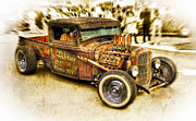 Ford Custom V8 Framed Prints - 1934 Ford Rusty Rod Framed Print by motography aka Phil Clark