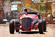 Indy Car Prints - 1934 Ford V8 Indy Special - Front View Print by Stuart Row