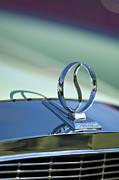 Autos Posters - 1934 Studebaker Hood Ornament Poster by Jill Reger