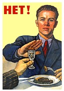 Soviet Union Digital Art - 1935 - Soviet Union Anti Alcohol Propaganda Poster - Color by John Madison