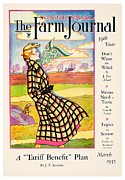 Magazine Cover Digital Art - 1935 - The National Farm Journal Magazine Cover March - Color by John Madison