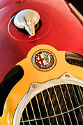 Old Photos Framed Prints - 1935 Alfa Romeo 8C-35 Grille Emblem Framed Print by Jill Reger