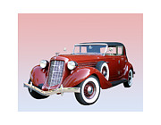 Cylinder Posters - 1935 Auburn 8 Phaeton 851 Poster by Jack Pumphrey