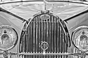 Roadster Photo Framed Prints - 1935 Bugatti Type 57 Roadster Grille Emblem Framed Print by Jill Reger