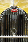 Bugatti Vintage Car Photos - 1935 Bugatti Type 57 Roadster Hood Emblem by Jill Reger