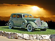 Limo Prints - 1935 Buick 61 Sedan Print by Dave Koontz