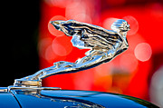 1935 Posters - 1935 Cadillac V-12 Convertible Sedan Hood Ornament Poster by Jill Reger