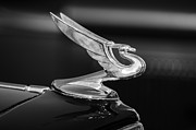 Vintage Hood Ornament Photo Framed Prints - 1935 Chevrolet Sedan Hood Ornament 3 Framed Print by Jill Reger