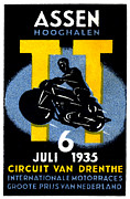 Netherlands Paintings - 1935 International Motorcycle Race by Historic Image