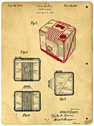 Invention Metal Prints - 1935 Kodak Camera Casing Patent Metal Print by Edward Fielding