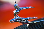 Historic Vehicle Prints - 1935 Pontiac Sedan Hood Ornament 2 Print by Jill Reger