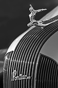 Historic Vehicle Photo Prints - 1935 Pontiac Sedan Hood Ornament 3 Print by Jill Reger