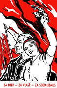 Left Wing Prints - 1935 Socialist Poster Print by Historic Image